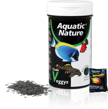 Aquatic nature code veggys flake 540 ml tarraco for Alimento para goldfish